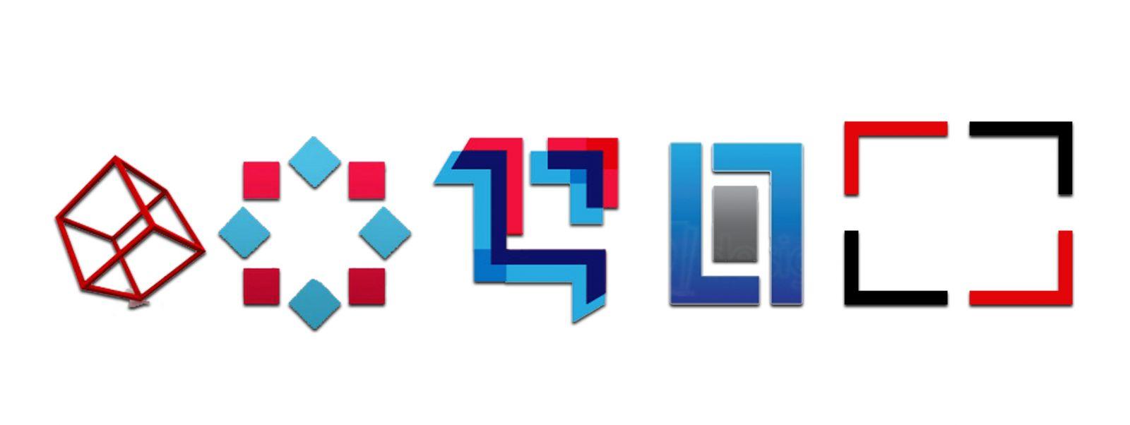 thiet ke logo hinh vuông